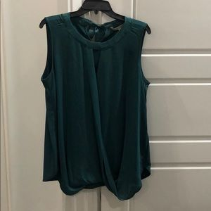 Stitch fix women's 1x sleeveless dark green blouse